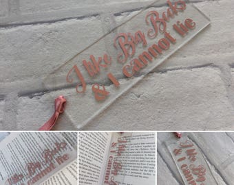 Personalised Quote Bookmark, Book Lover, Gift, Acrylic
