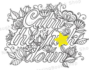 Adult Coloring Book 58 PRINTABLE Pages