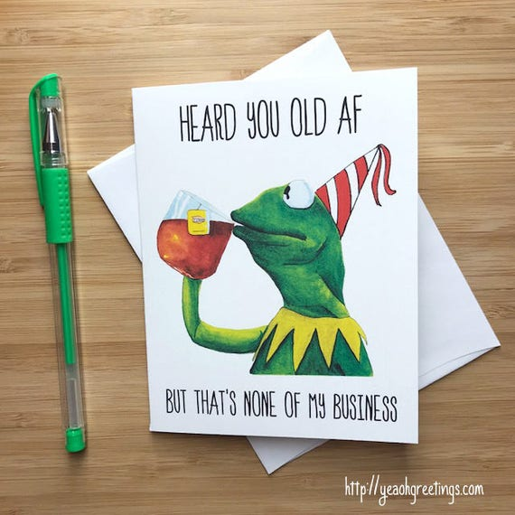 Funny Frog 'None Of My Business' Birthday Card