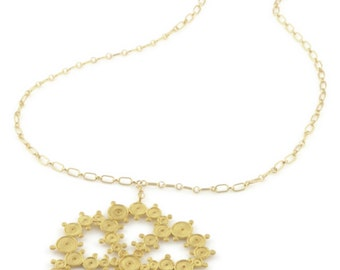 Gold Crop Circle Necklace