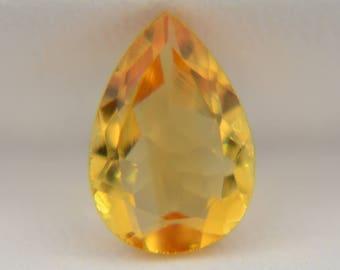 Natural Citrine gemstone Pear cut citrine Loose citrine Faceted citrine stone Yellow citrine jewelry Citrine ring November birthstone