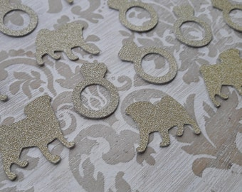 Pug Dog Gold Confetti Table Confetti Table Decorations Party Decorations Engagement Party Bridal Shower Table Scatter Wedding