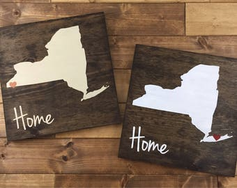 Pick Colors | New York Wood Sign | New York State Sign | New York decor | New York sign | New York Guest Book | Wood signs | New York art