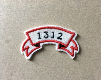 1312 Sew On embroidered Patch