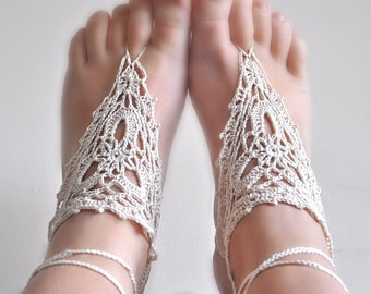 PATTERN ONLY (PDF File) -  barefoot crochet sandals, soleless, beach, accessories, how to make