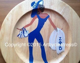 Zeta Phi Beta Decorative Plate