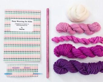 Kid's Wall Art Weaving Kit - Purple Weaving