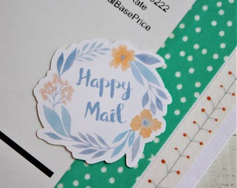 Happy Mail Floral Stickers