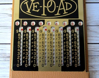 VINTAGE - Ve-Po-Ad Vest Pocket Adding Machine - Chicago, Illinois - Collectibles