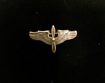 Sterling Silver Navy Wings Pin