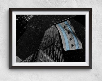 Chicago at night fine art print