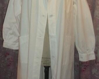 blouse vintage, old, doctor, nurse, craft, large size
