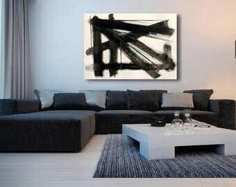 broad strokes big painting black and white