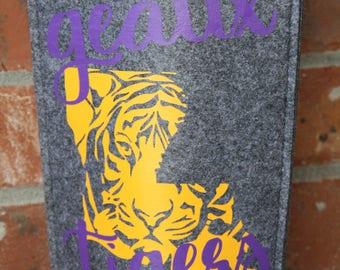 LSU WIne Bag | LSU gift | LSU Fan | Tiger Wine Bag | Lsu Wine Bottle | Baton Rouge WIne bag | Wine Bag