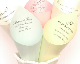 Set of 20 - Stardream Petal Cones or Cones for Candy Bar Buffet at Wedding or Event