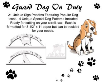 Scroll saw patterns etsy scrollsaw dog sign patterns fandeluxe Images