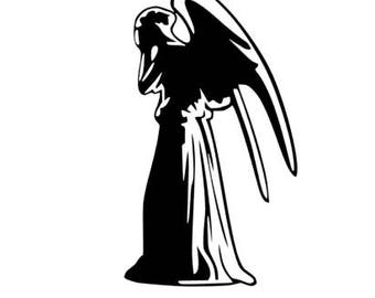 DR WHO Weeping Angel Quality Vinyl Decal, Fan gifts