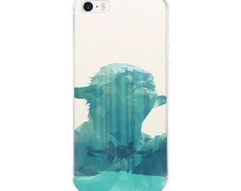 "Yoda iPhone Case ""Luminous Beings"" Star Wars iPhone X Case / Empire Strikes Back iPhone 6, 7, 8, Plus Modern Art Subtle Case"