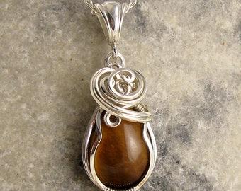 Tigereye Necklace  - Tigerseye Jewellery - Tigers Eye Pendant - Tigers Eye Necklace - Tigereye Pendant - Catseye - Tigereye Jewelry