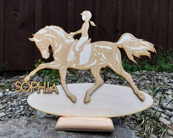 Equestrian Wood Cut Out -Personalized