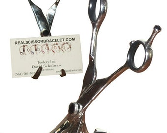 """Business Card Holder made from """"Real Scissors"""""""