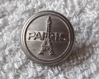 Antique French Button - Paris - Eiffel Tower