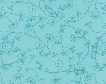 Flow by Brigitte Heitland for Zen Chic and Moda - Egeria - Turquoise - Teal - 1/2 Yard Cotton Quilt Fabric 516