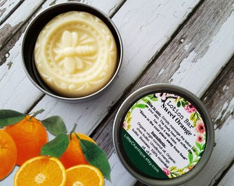 Sweet Orange Lotion Bar   Dry Skin   Shea Butter   Dry skin on hands   Solid Lotion   Beeswax Lotion   Natural Lotion  Non Sticky Lotion Bar