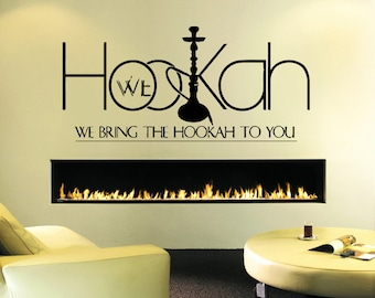 Wall Decal Sticker Bedroom Hookah Lounge Logo Hookah Bar Wall Decor 365b
