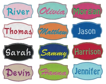 Fancy Name Custom Patches Iron On Appliques Iron On Patch Personalized Patch