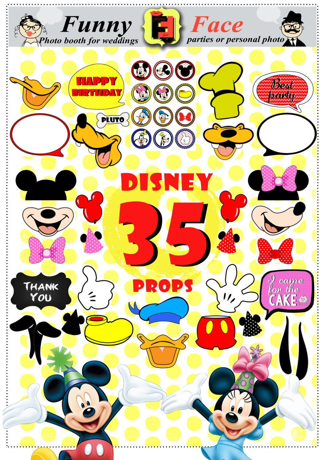 Instant Download 35 Pieces Disney mickey mouse Inspired Photo
