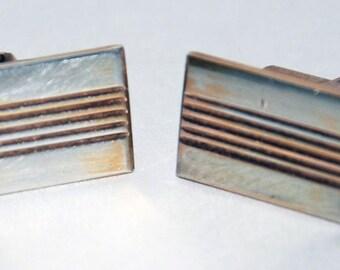 Genuine Vintage 1970s era Sterling Silver 875 Russian Ukrainian Cuff Links-- Free Shipping!