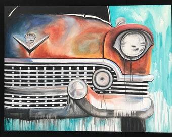cadillac car print
