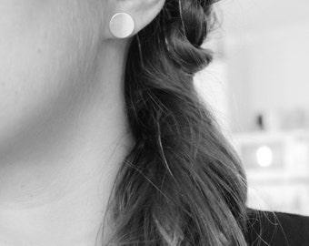 Earrings drops round circle earrings round earrings, Sterling Silver