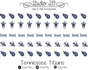 Tennessee Titians Waterslide Nail Decals