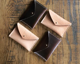 Leather business card holder | business card wallet