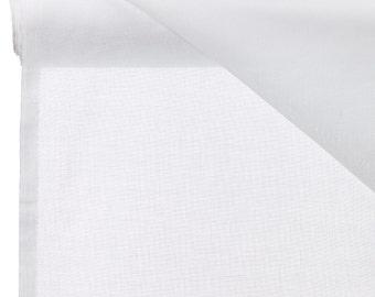 White muslin fabric UK 150cm wide pure cotton