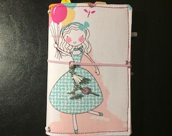 Handmade B6 Girl Fabric Travelers Notebook