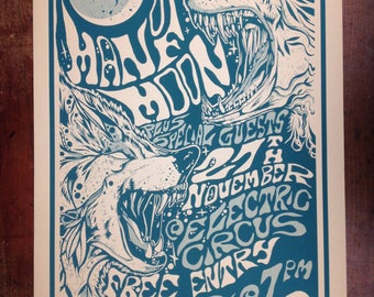 Man of Moon psychedelic gig poster print