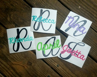 Name Decal - Yeti Decal -Christmas Gifts for her  Vinyl Decal - Tumbler Sticker - Handwritten name decal. Yeti sticker -
