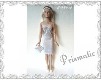 "Tyler Doll Clothes - PRISMATIC Cocktail Dress, Purse and Jewelry Set - Custom Fashion fits 16"" Tonner dolls - by dolls4emma"