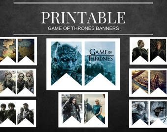 Game Of Thrones Printable Banners NON-Customizable