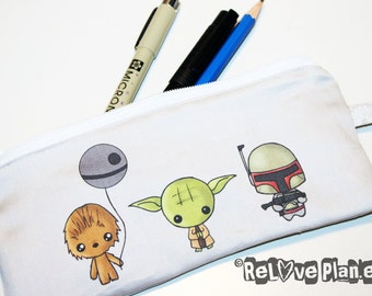 Mini Meme Wars Zipper Purse Pouch - Medium - star - Cosmetic Pencil Wallet - ReLove Plan.et