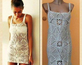 Ladies summer dress crocheted. Bohol style.