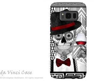Dia De Los Muertos Case for Samsung Galaxy S8 PLUS - 1920's Sugar Skull S 8 PLUS Case with Black and White Skull Art - by Da Vinci Case