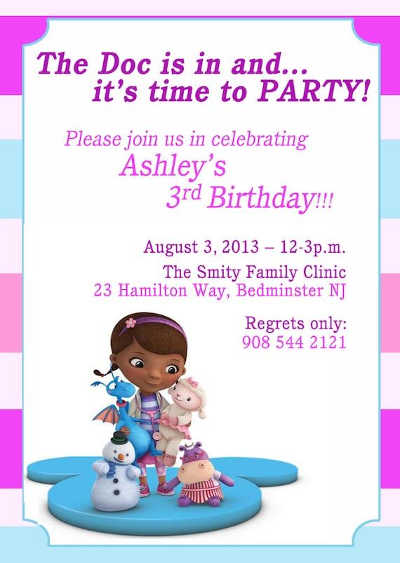 Doc mcstuffins invitation doc mcstuffins birthday doc mcstuffins invitation doc mcstuffins birthday invitation printable invitation diy digital file solutioingenieria Gallery