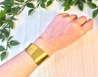 Vintage Brass Bracelet, Vintage Jewelry, Brass Cuff, Brass Bracelet, Cuff Bracelet, Asymmetrical, Vintage Bracelet, Brass, Jewelry, Gift