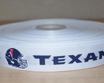 7/8 inch Houston Texans Grosgrain Ribbon( 5 yard Package)