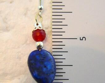 Ruby & Lapis Earrings 142