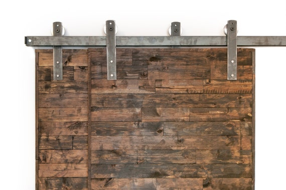 Bypass industrial classic sliding barn door closet hardware
